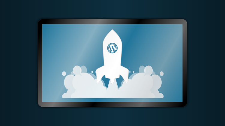 wordpress rakete startet